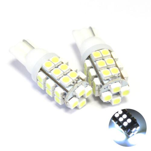 2x Bianco 28-SMD LED Numero//Targa Lampadine Lampade di aggiornamento