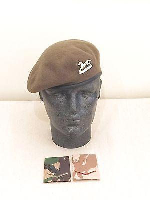 British Army-Issue PWO Yorkshire Regiment Beret, Badge & Rank Slides. 58cm.