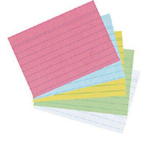 Herlitz-FICHA-A6-Lineado-Blanco-100ER-FICHAS-Tarjetas-kartei