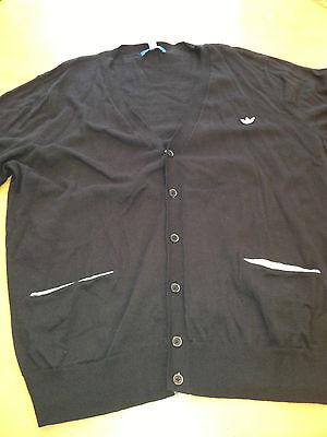 ADIDAS- Black Cardigan Sweater- New w/Tags Mens XXL