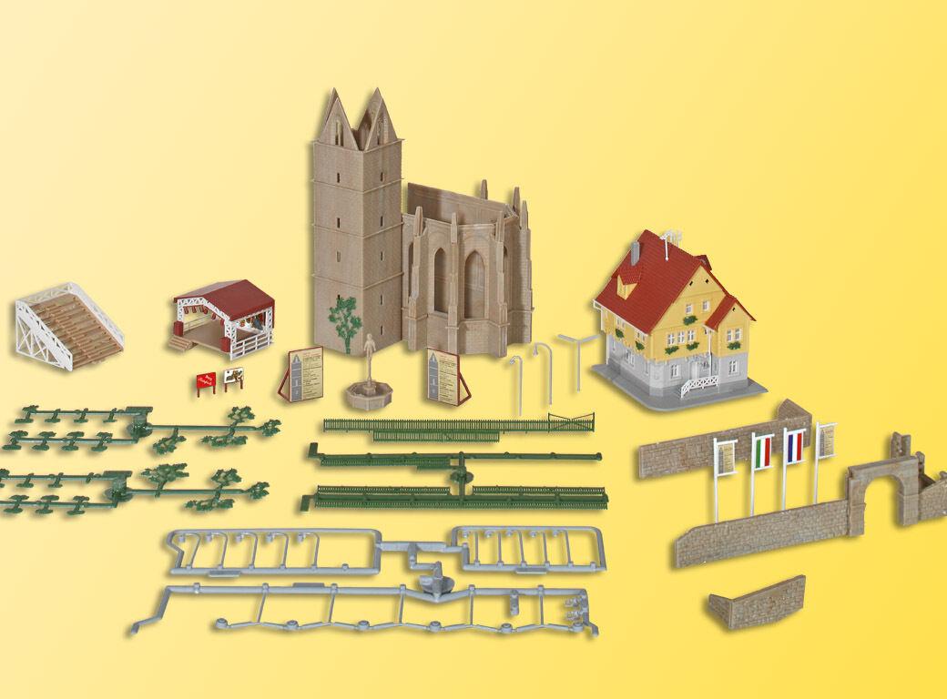 Kibri 36401 Traccia Z rudere monastero GIARDINO incl. casa, Open-Air palco  neu in OVP