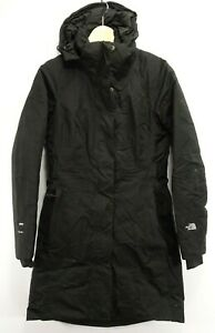 The North Face Womens Arctic 550 Down Dry Vent Black Parka Jacket Long Coat XS