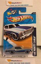 '70 Monte Carlo #107 * Grey/BLUE Walmart * 2012 Hot Wheels * L5