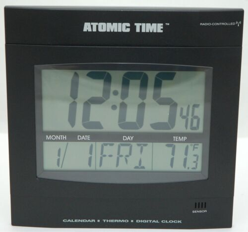 NEW Time Tech Digital LED Wall Clock Thermostat DayDate