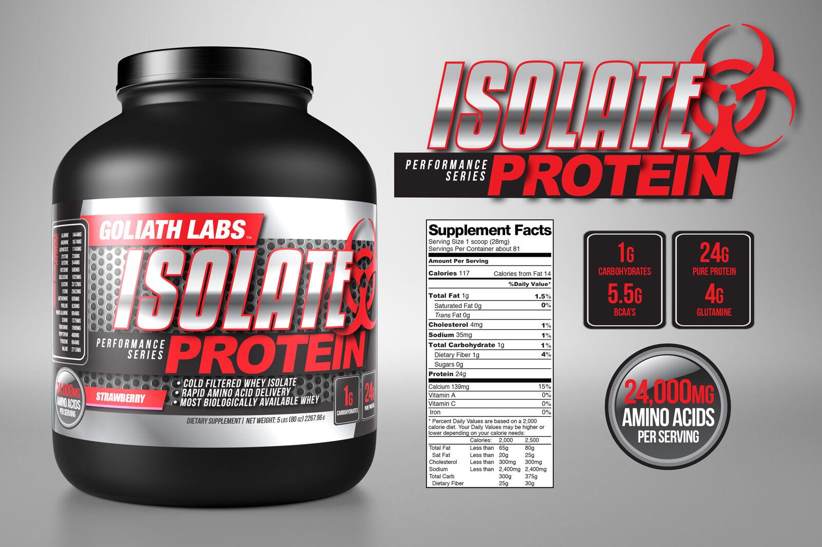 Goliath Labs 100% Isolate Whey Protein Powder 30lbs Isolate protein powder
