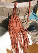 "Native American Medicine Bag Tobacco 4 1/2""x3"" William Lattie Cherokee Cert Aut"