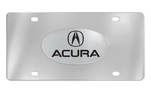 Acura Logo /& Wordmark Chrome Plated Decorative Vanity License Plate OEM