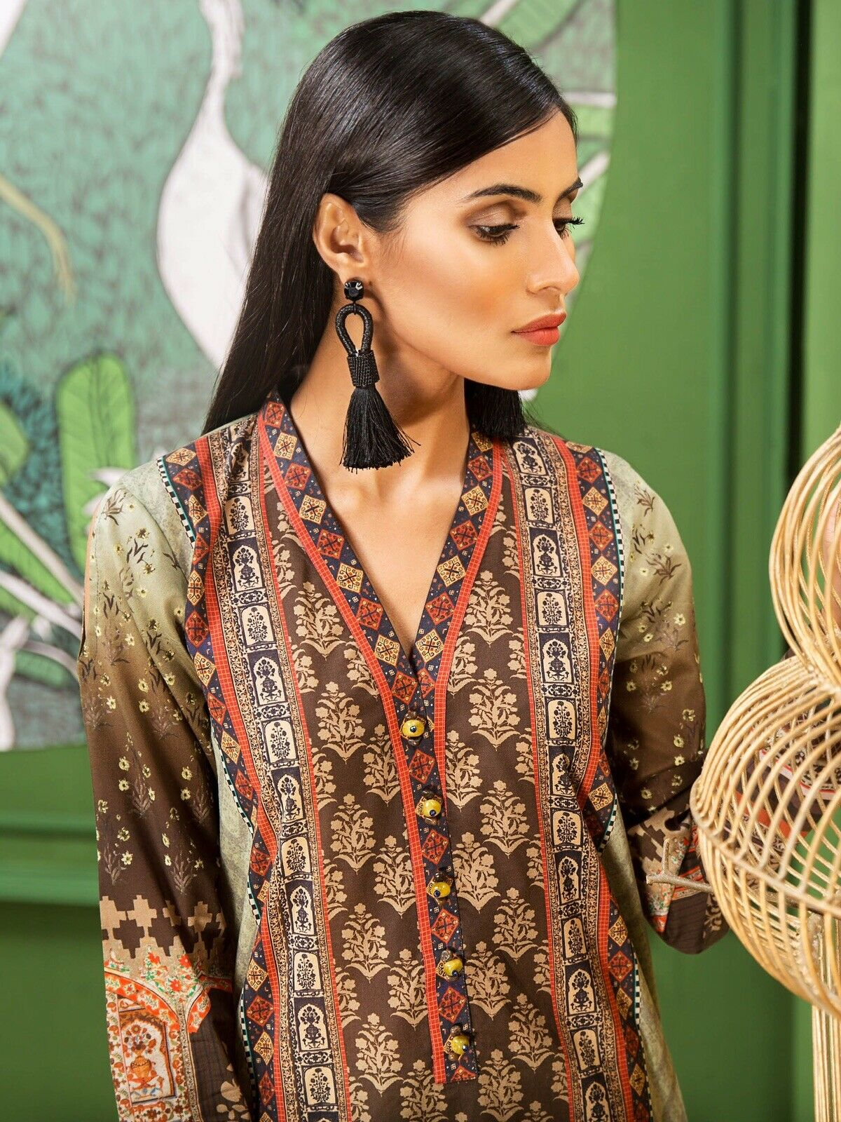 Limelight Unstitched Printed Summer Kurta Only