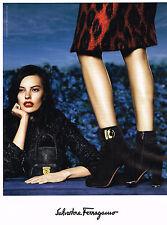 PUBLICITE ADVERTISING 124  2014   SALVATORE  FERRAGAMO chaussures boots