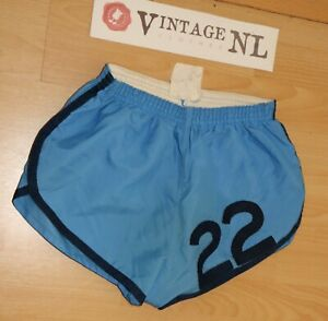 RICHARD-E-NORTH-80er-GLANZ-Shorts-Gr-D6-34-034-Sprinter-Sporthose-kurze-Hose