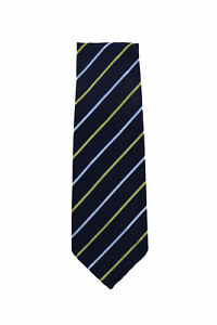Finamore Napoli Dark Blue Striped Silk Tie - x - (1350)