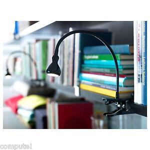 new ikea jansjo led easy clip clamp on spotlight desk table work lamp 5 colors ebay. Black Bedroom Furniture Sets. Home Design Ideas