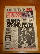 SOUNDS 1973 MAR 3 STATUS QUO + DAVID BOWIE POSTER