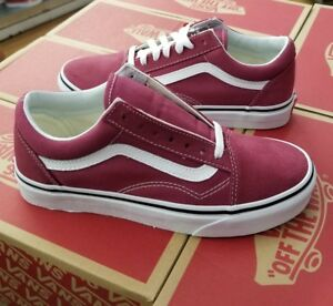 5ba9221548fcad Image is loading VANS-OLD-SKOOL-MEN-DRY-ROSE-TRUE-WHITE-
