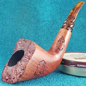 EXCELLENT-TIM-WEST-HUGE-360-STRAIGHT-GRAIN-DUBLIN-FREEHAND-AMERICAN-Estate-Pipe