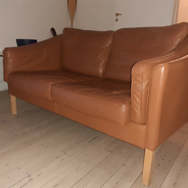 Anden arkitekt, Stouby, Sofa, Stouby lædersofa to personers…