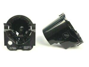 8pc 22 mm pitch noir /& gris foncé à plumes Effet Faux Corne 4 Trous Bouton 5534