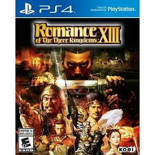 Romance of the Three Kingdoms XIII (Sony PlayStation 4,  PS 4, 2016) NEW SEALED