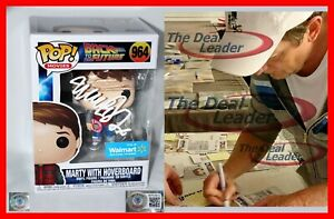 Michael J Fox Signed Marty Hoverboard Back To The Future 964 Funko POP Beckett