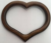 Heart Wood Shape Frame Display Needlework Cross Stitch Stained Glass Picture