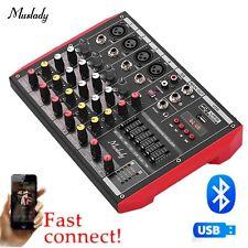 Metal 4 Kanal Live Mixer Mischpult 3-Band EQ USB Funktion 48V DE Ship V4I4