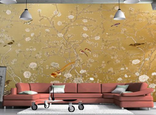 3D Sparrow Flowers 87 Wall Paper Murals Wall Print Wall Wallpaper Mural AU Kyra