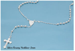 Sterling-Silver-925-ROSARY-NECKLACE-MADE-IN-ITALY-3MM-LENGTH-18-034-20-034-24-034-26-034-30-034
