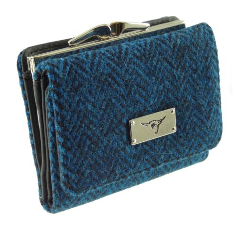 Ladies Harris Tweed Clasp Purse Available In 7 Colours LB2113