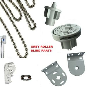 Details about GREY BRACKETS MECHANISMS CHAIN HOLLAND FITTINGS MOUNTING  ROLLER BLIND PARTS