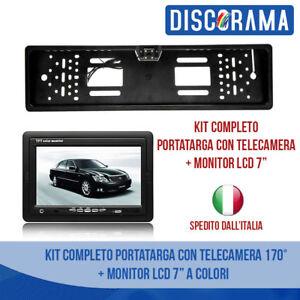 "KIT PORTATARGA CON TELECAMERA 170° + MONITOR 7"" LED RETROMARCIA AUTO NOTTURNA"