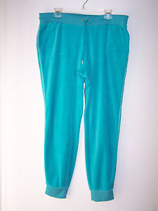 e6995c1359a4 JUICY COUTURE Teal Green Tapered Cuffed Leg Jogging Sweat Pants Size ...