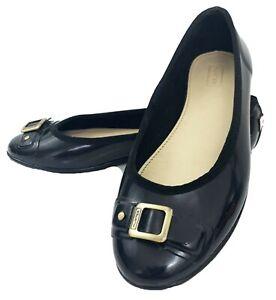 HUNTER Womens Flats Size 7 Black Rubber