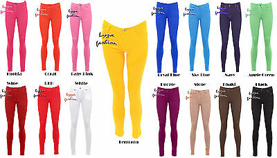 Realistisch Lz25 Womens Ladies Coloured Skinny Fit Stretch Jeans Jegging Trousers Plus Size