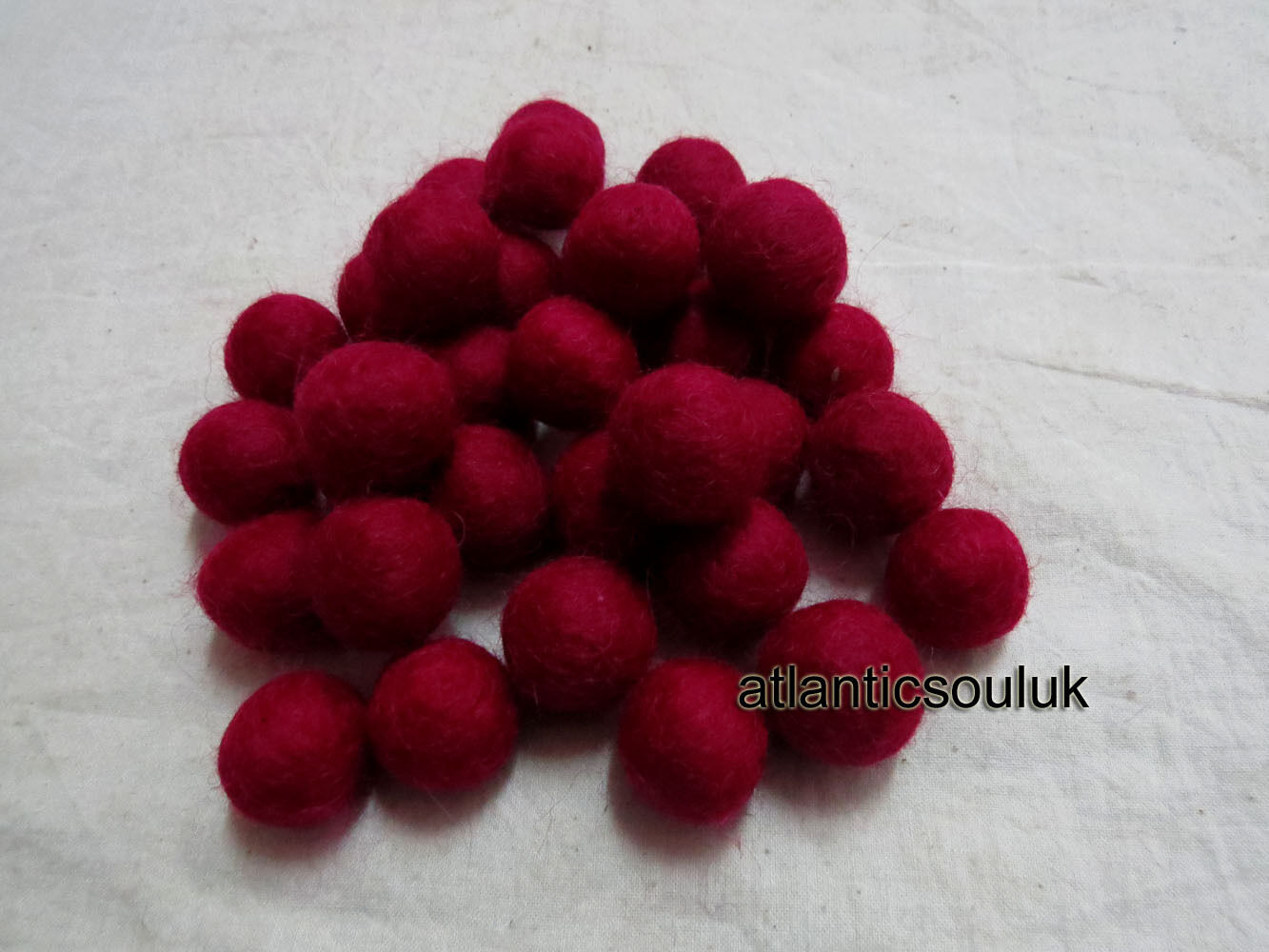 FB14 Décoratif fabriqué à la Main à Collectionner 2cm/20mm laine Décoratif FB14 Marron Feutre balles en Lot baedb4