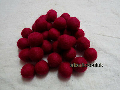 FB16 Hand Craft Collectible 2cm//20mm wool Decorative Blue Felt Ball in LOT Nepal