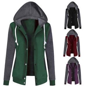 Ladies-Sweatshirt-Zip-Jacket-Coat-Hoodie-Jumper-Womens-Plain-Fleece-Hooded-Hoody