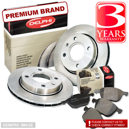Brake Discs Full Axle Set 314mm Vented Fits Audi A6 Front Delphi Brake Pads