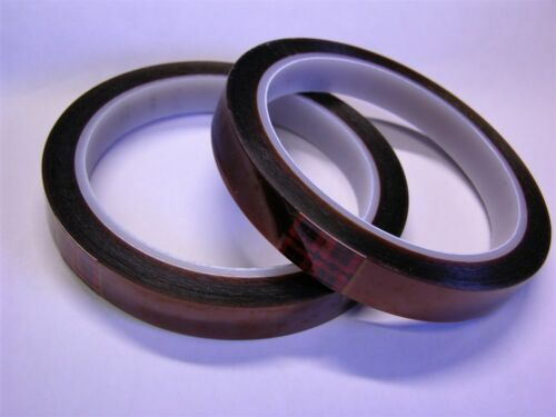 "2 Rolls 3M 5413 Polyimide Film Tape 1//2/""x 36yrds 12,7mm x 32,9m Amber 2.7mil"