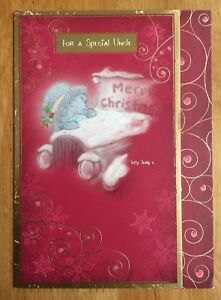 039-Special-Uncle-039-Me-To-You-Christmas-Card-Tatty-Bear-6-75-034-x4-75-034-Glitter