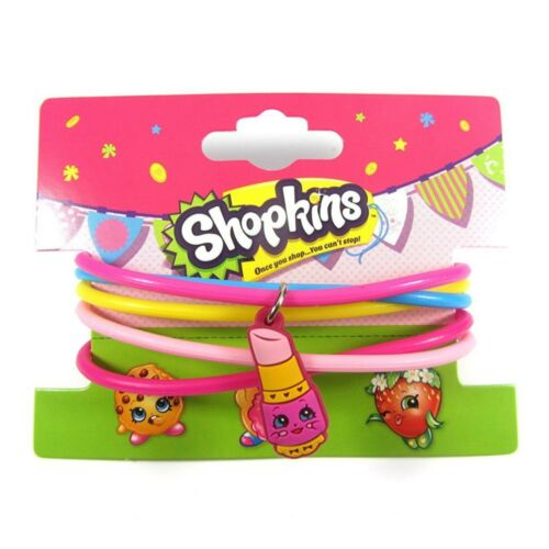 Official Licensed Shopkins Charm Jelly Bangles Bracelets Lippy Lips