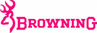Browning Logo Vinyl Die Cut Decal / Sticker - Set Of 2 - Pink