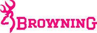 Browning Logo Vinyl Die Cut Decal / Sticker - Set Of 2 - Pink