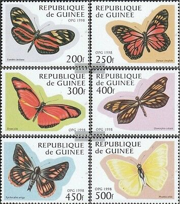 Unmounted Mint Dependable Guinea 1716-1721 complete.issue. Never Hinged 1998 Butterflie