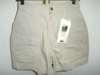 Women's Rei Rugged Cotton Canvas Fishing Trekking Shorts 8 Pockets Sz 8
