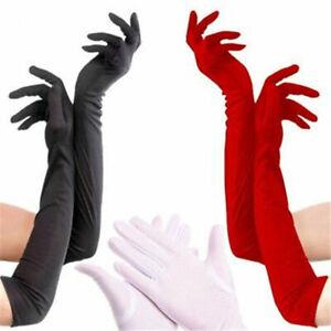 Ladies-Long-Gloves-Satin-Opera-Wedding-Bridal-Evening-Party-Prom-Costume-Gloves