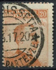 Italy 1916 SG#101, 20c Orange P13.5 Used Perf Shift Error  #D8841