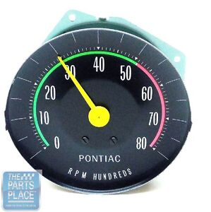 1965 pontiac gto oe factory rpm dash tach tachometer with rally gauges ebay. Black Bedroom Furniture Sets. Home Design Ideas