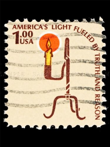POSTAGE STAMP USA 1975 CANDLE HOLDER PHOTO ART PRINT POSTER PICTURE BMP1131A