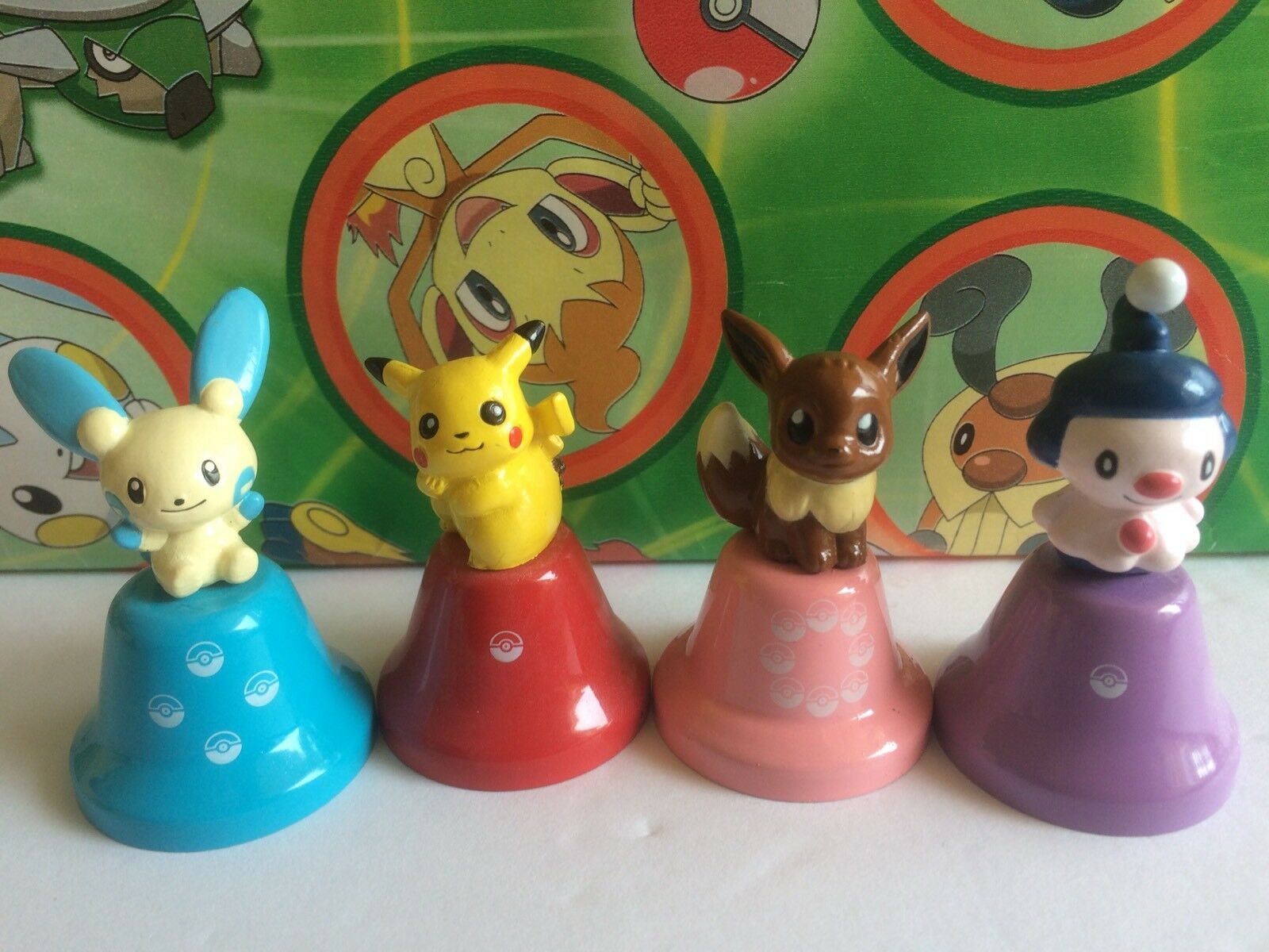Pokemon Eevee Pikachu Mime jr Minun Minun Minun bell Set Lot Poke Figure Music toy   (plush) f2eee9