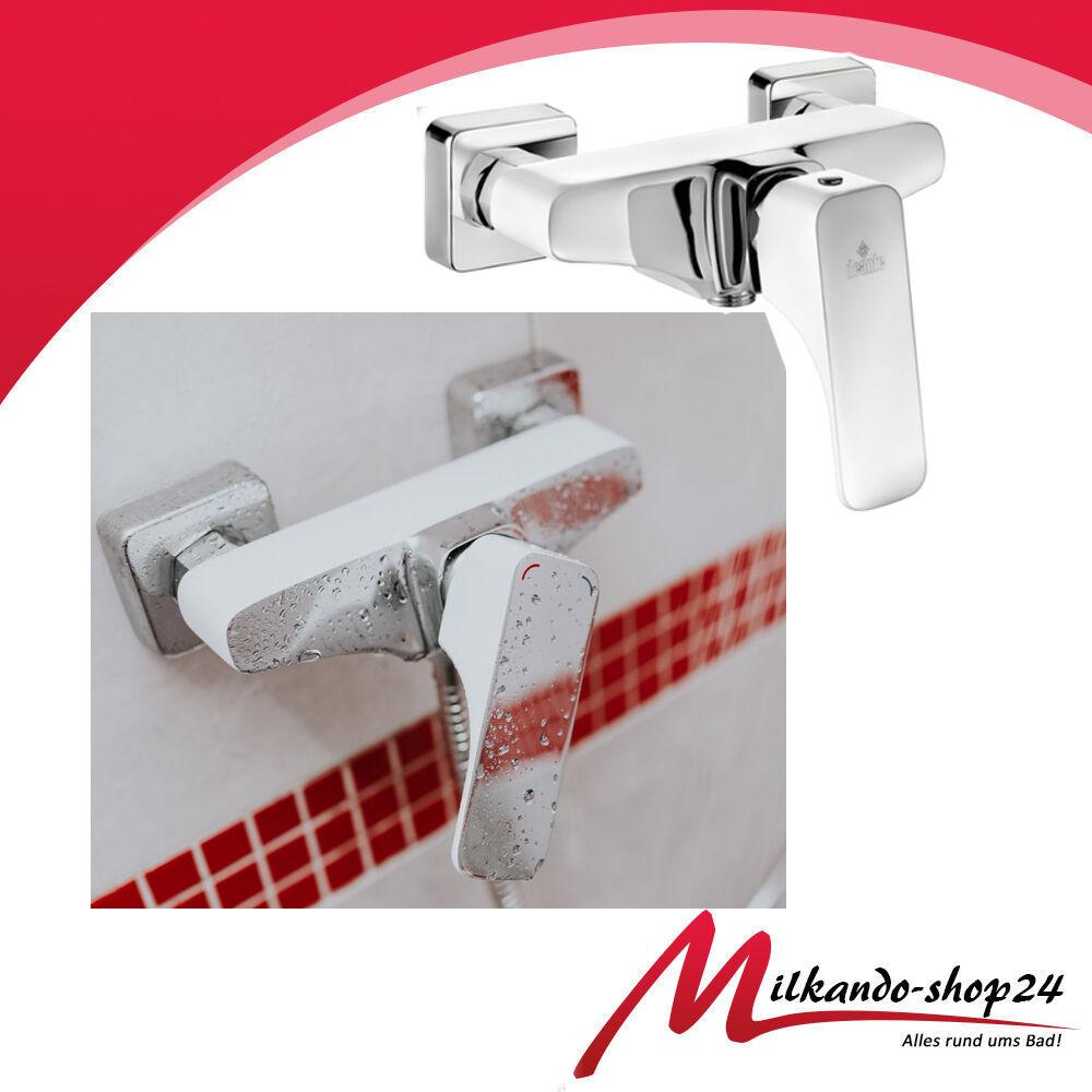 Mischbatterie Duscharmatur BQH  Brausearmatur Wannenarmatur  Weiß Dusche